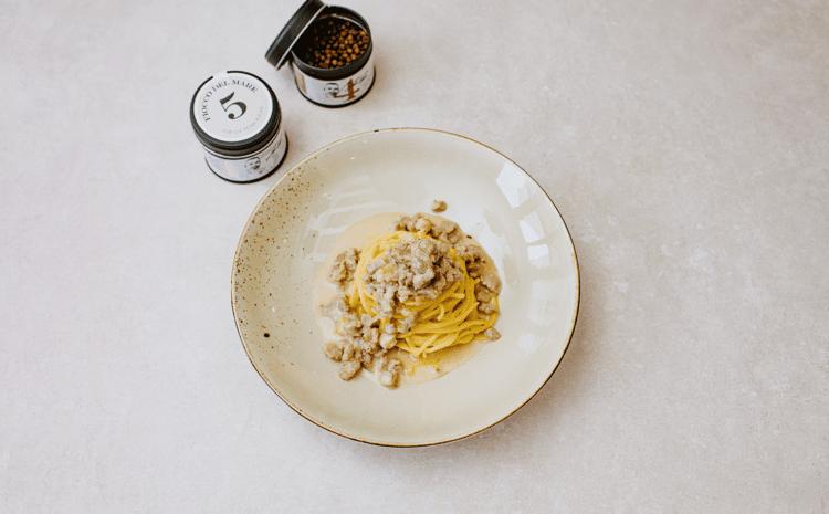 Rezept: Tagliolini mit weisser Bolognese